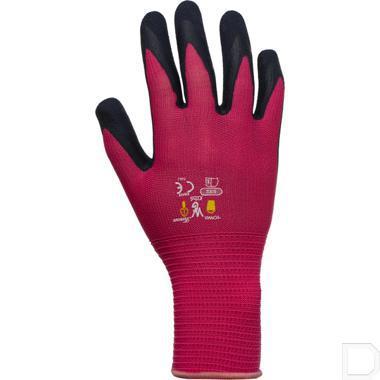 Kinderhandschoen tricot 8-11 jaar roze / zwart productfoto