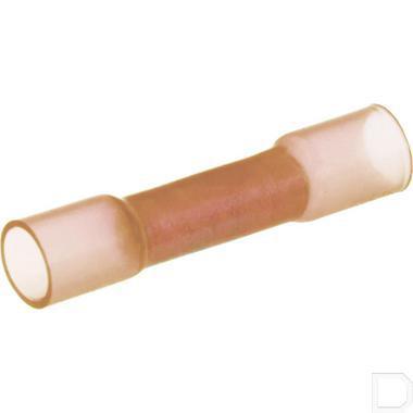 Doorverbinder met krimpkous 0,5-1,5mm² rood 100 stuks productfoto