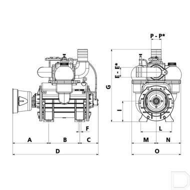Compressor dir. L. autsm. met Ballast BP productfoto