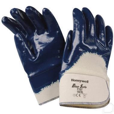 Handschoen Bluesafe katoen maat 9 / L blauw / wit productfoto