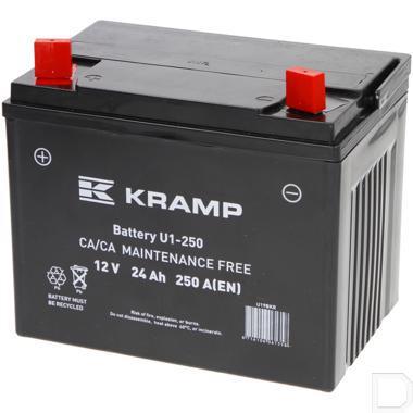 Start accu AGM 12V 24Ah 180A 196x130x180mm bodembevestiging B00 pooluitvoering Y11 productfoto