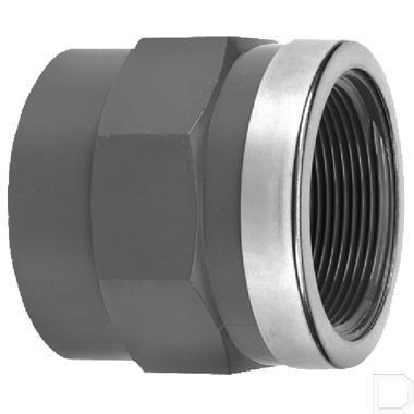"""Adaptermof 50mm x 1.1/2"""" binnendraad PVC-U productfoto"""