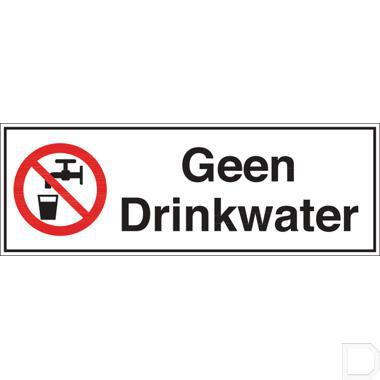 Sticker Geen Drinkwater 297x105mm productfoto