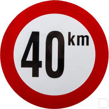 Sticker 40km België Ø210mm productfoto