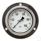 "Manometer Ø100mm 0-100bar 1/2"" inbouw Glycerine RVS productfoto"