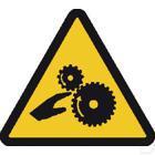 Sticker gevaar roterende onderdelen 100mm productfoto