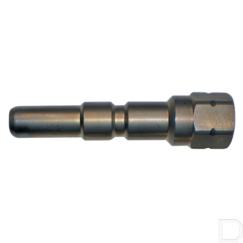 Lange nippel RVS 1/4IG SW17 - Koppelingen